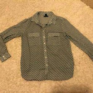 GAP Utility Shirt Blue Print Size XS